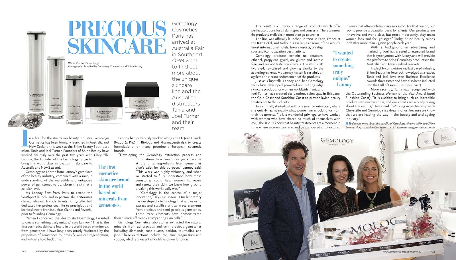 Gemology launch ocean road magazine