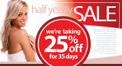 half yearly sale 25% OFF
